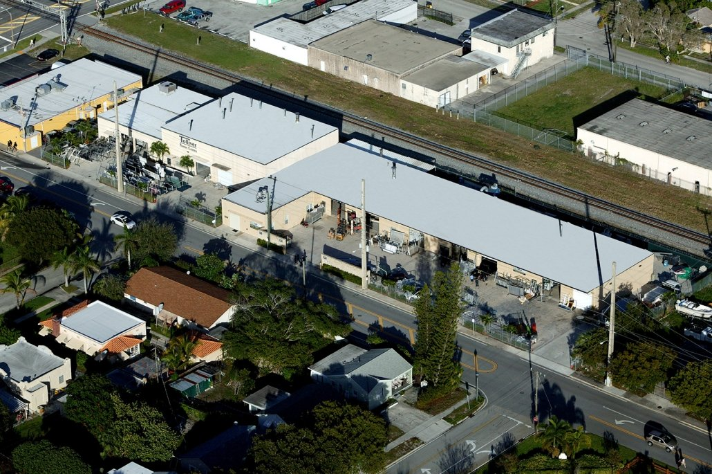 Aerial Photo of Tolliver Powder Coating in West Palm Beach, Florida